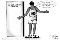 The rest of you Gay athletes can come out now!